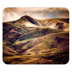 Iceland Mountains Sky Clouds Double Sided Flano Blanket (small)