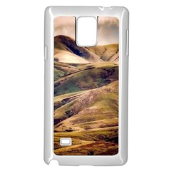 Iceland Mountains Sky Clouds Samsung Galaxy Note 4 Case (white)