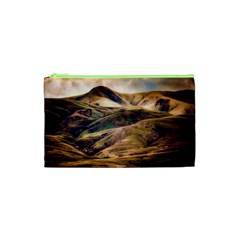Iceland Mountains Sky Clouds Cosmetic Bag (xs)