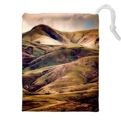 Iceland Mountains Sky Clouds Drawstring Pouches (xxl)
