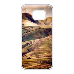 Iceland Mountains Sky Clouds Samsung Galaxy S7 Edge White Seamless Case
