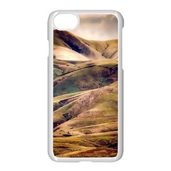 Iceland Mountains Sky Clouds Apple Iphone 7 Seamless Case (white)