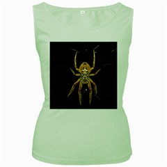 Insect Macro Spider Colombia Women s Green Tank Top