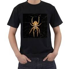 Insect Macro Spider Colombia Men s T Shirt (black) (two Sided)