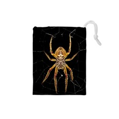 Insect Macro Spider Colombia Drawstring Pouches (small)