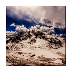 Italy Landscape Mountains Winter Tile Coasters