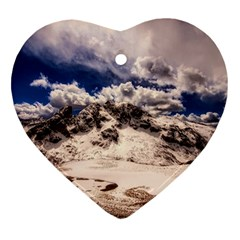 Italy Landscape Mountains Winter Ornament (heart)