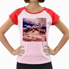 Italy Landscape Mountains Winter Women s Cap Sleeve T Shirt