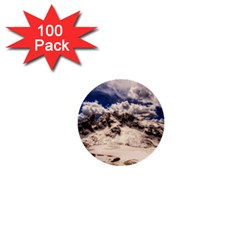 Italy Landscape Mountains Winter 1  Mini Buttons (100 Pack)