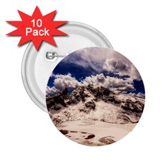 Italy Landscape Mountains Winter 2 25  Buttons (10 Pack)