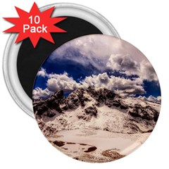 Italy Landscape Mountains Winter 3  Magnets (10 Pack)