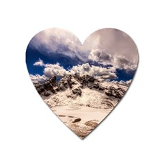 Italy Landscape Mountains Winter Heart Magnet