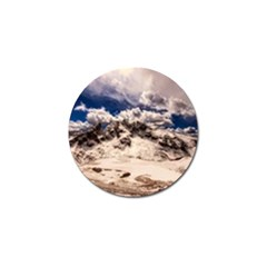 Italy Landscape Mountains Winter Golf Ball Marker