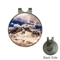 Italy Landscape Mountains Winter Hat Clips With Golf Markers