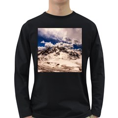 Italy Landscape Mountains Winter Long Sleeve Dark T Shirts