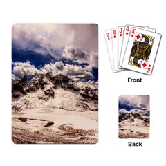 Italy Landscape Mountains Winter Playing Card