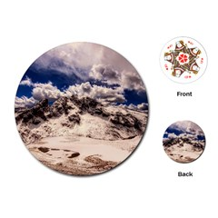 Italy Landscape Mountains Winter Playing Cards (round)