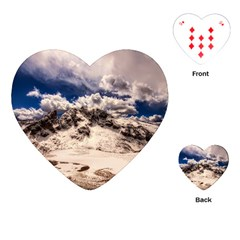 Italy Landscape Mountains Winter Playing Cards (heart)