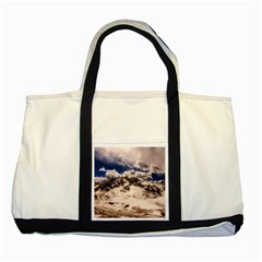 Italy Landscape Mountains Winter Two Tone Tote Bag
