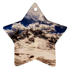 Italy Landscape Mountains Winter Star Ornament (two Sides)