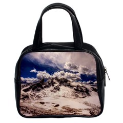 Italy Landscape Mountains Winter Classic Handbags (2 Sides)
