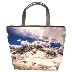 Italy Landscape Mountains Winter Bucket Bags