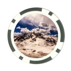 Italy Landscape Mountains Winter Poker Chip Card Guard (10 Pack)