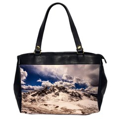 Italy Landscape Mountains Winter Office Handbags (2 Sides)