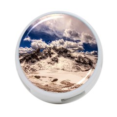 Italy Landscape Mountains Winter 4 Port Usb Hub (two Sides)