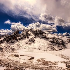 Italy Landscape Mountains Winter Magic Photo Cubes