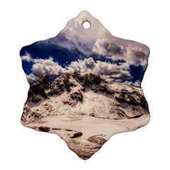 Italy Landscape Mountains Winter Ornament (snowflake)
