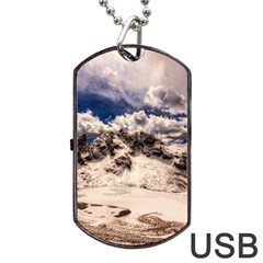 Italy Landscape Mountains Winter Dog Tag Usb Flash (one Side)