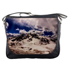 Italy Landscape Mountains Winter Messenger Bags