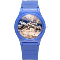 Italy Landscape Mountains Winter Round Plastic Sport Watch (s)
