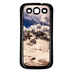 Italy Landscape Mountains Winter Samsung Galaxy S3 Back Case (black)