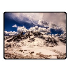 Italy Landscape Mountains Winter Double Sided Fleece Blanket (small)