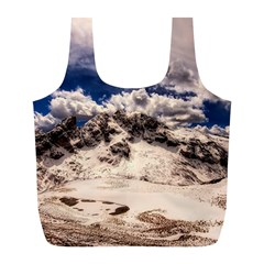 Italy Landscape Mountains Winter Full Print Recycle Bags (l)