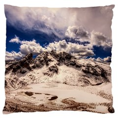 Italy Landscape Mountains Winter Large Flano Cushion Case (two Sides)