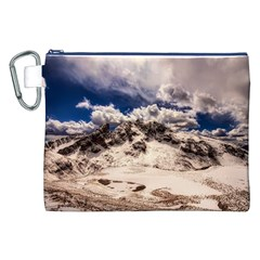 Italy Landscape Mountains Winter Canvas Cosmetic Bag (xxl)