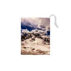 Italy Landscape Mountains Winter Drawstring Pouches (xs)