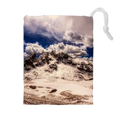 Italy Landscape Mountains Winter Drawstring Pouches (extra Large)