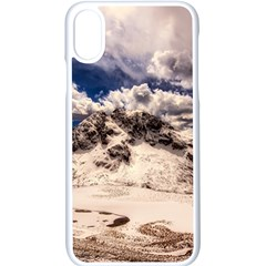 Italy Landscape Mountains Winter Apple Iphone X Seamless Case (white)