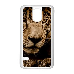 Jaguar Water Stalking Eyes Samsung Galaxy S5 Case (white)
