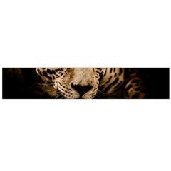 Jaguar Water Stalking Eyes Large Flano Scarf