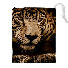 Jaguar Water Stalking Eyes Drawstring Pouches (xxl)
