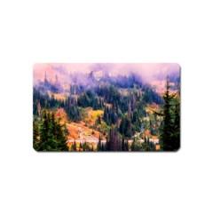 Landscape Fog Mist Haze Forest Magnet (name Card)