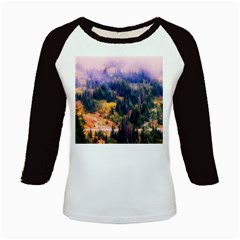 Landscape Fog Mist Haze Forest Kids Baseball Jerseys