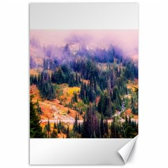 Landscape Fog Mist Haze Forest Canvas 24  X 36