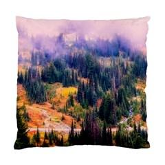 Landscape Fog Mist Haze Forest Standard Cushion Case (two Sides)