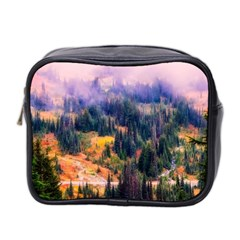 Landscape Fog Mist Haze Forest Mini Toiletries Bag 2 Side